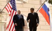 Senator John McCain and Slovenian President Borut Pahor
